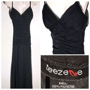 EUC Sparkling Black Dress by TeezeMe